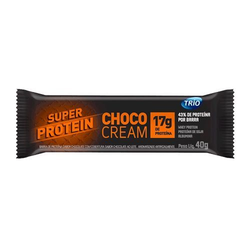 101dfdc6c Barra Super Protein Choco Cream - 1 barra de 40g - Trio Alimentos ...