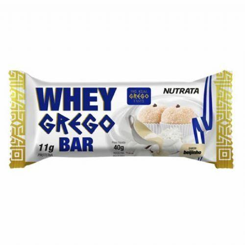 Barra Whey Grego Bar - 1 Unidade de 40g Beijinho - Nutrata no Atacado