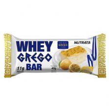Barra Whey Grego Bar - 1 Unidade de 40g Mouse de Maracujá - Nutrata*** Data Venc. 30/11/2020