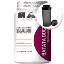 Batata Doce em Pó - 600g + Coqueteleira 600ml Preta - Max Titanium