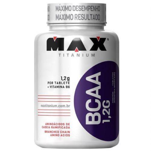 BCAA 1,2g c/ Vitamina B6 - 120 Tabletes - Max Titanium no Atacado