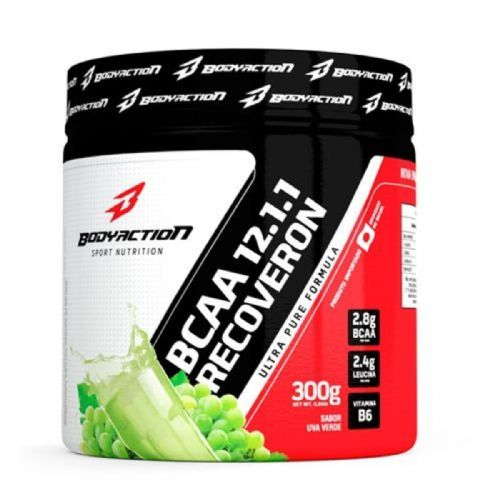 BCAA 12:1:1 Recoveron - 300g Uva Verde - BodyAction no Atacado