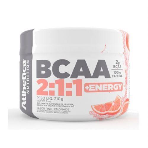 Bcaa 2:1:1 + Energy - 210g Pink Lemonade - Atlhetica no Atacado