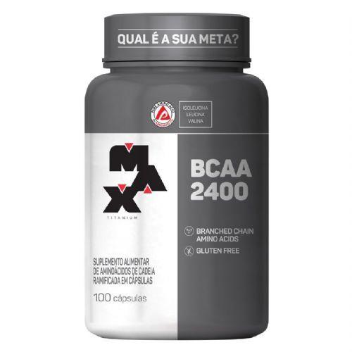BCAA 2400 - 100 Cápsulas - Max Titanium no Atacado