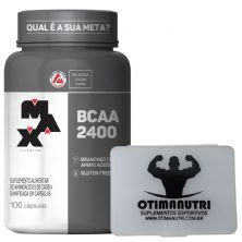 BCAA 2400 - 100 cápsulas + Porta Cápsulas transparente - Max Titanium