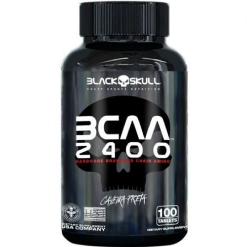 BCAA 2400 - 100 Tabletes - Black Skull no Atacado