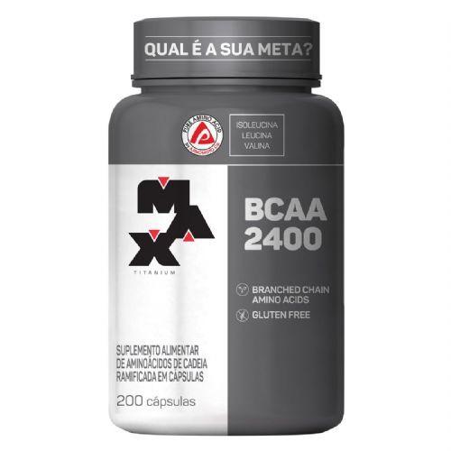 BCAA 2400 - 200 Cápsulas - Max Titanium no Atacado