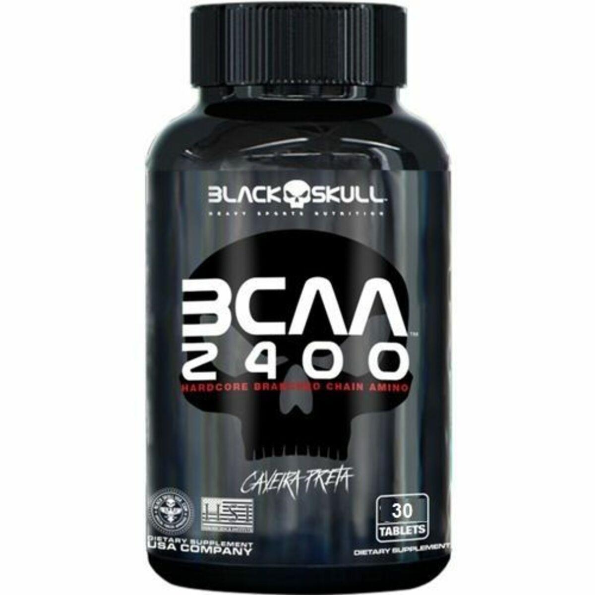 Bcaa 2400 - 30 Tablets - Black Skull