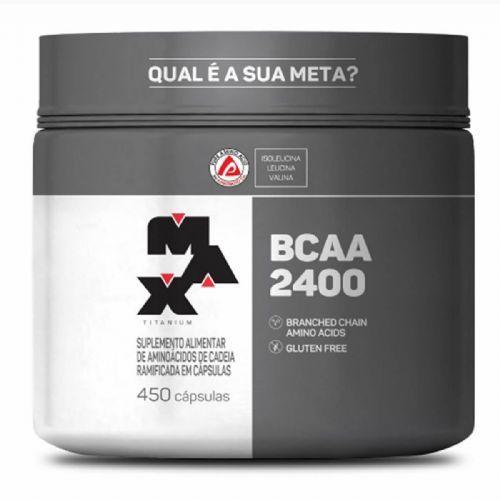 BCAA 2400 - 450 Cápsulas - Max Titanium no Atacado