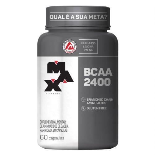 BCAA 2400 - 60 Cápsulas - Max Titanium no Atacado