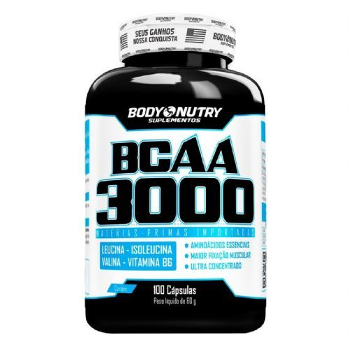 BCAA 3000 - 100 Cápsulas - Body Nutry no Atacado