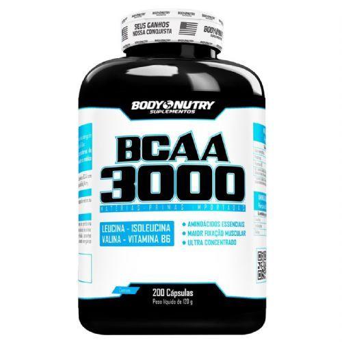 BCAA 3000 - 200 Cápsulas - Body Nutry no Atacado