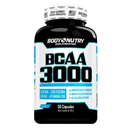 BCAA 3000 - 50 Cápsulas - Body Nutry no Atacado