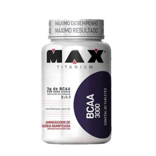 BCAA 3000 - 60 Tabletes - Max Titanium no Atacado