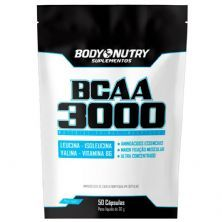 BCAA 3000 Refil - 50 Cápsulas 30g - Body Nutry