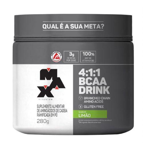 BCAA 4:1:1 - 280g Drink Limão - Max Titanium no Atacado