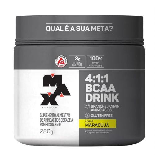 BCAA 4:1:1 - 280g Drink Maracujá - Max Titanium no Atacado