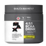BCAA 4:1:1 Drink maracuja - 280g + Coqueteleira 600ml Preta - Max Titanium