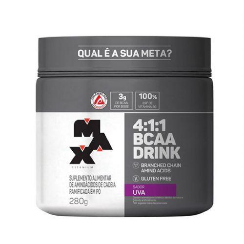 BCAA 4:1:1 - 280g Drink Uva - Max Titanium no Atacado