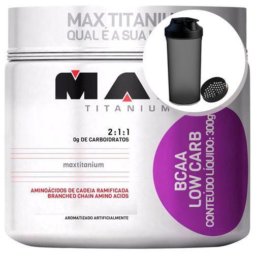 BCAA Low Carb - Limão 300g + Coqueteleira 600ml Preta - Max Titanium no Atacado