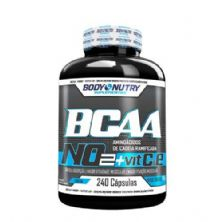 BCAA NO2 Vit & E - 240 Cápsulas - Body Nutry