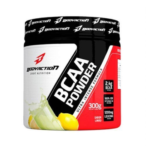 BCAA Powder - 300g Ice Lemonade - BodyAction no Atacado