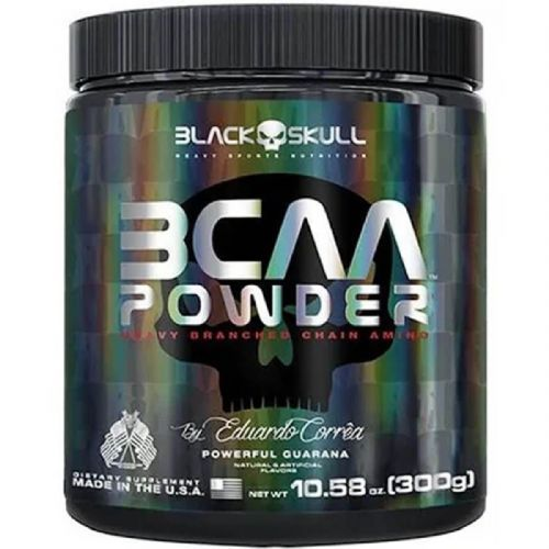 BCAA Powder - 300g Powerful Guarana - Black Skull no Atacado