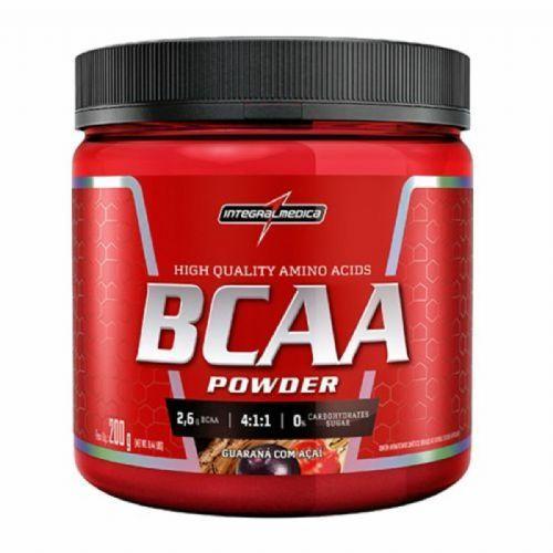 BCAA Powder 4:1:1 - 200g Guarana com Açai - IntegralMédica no Atacado
