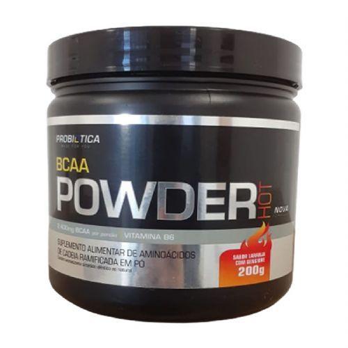 BCAA Powder Hot - 200g Laranja com Gengibre - Probiotica no Atacado