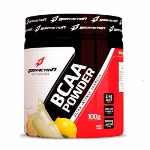 BCAA Powder - Muscle Builder - 100g Limão - BodyAction no Atacado