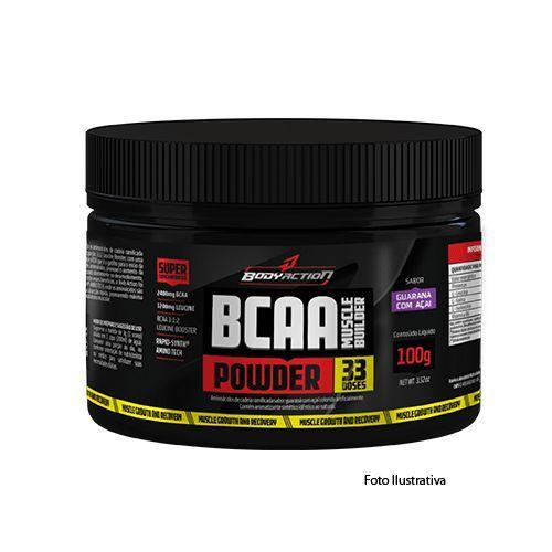 BCAA Powder - Muscle Builder - 100g Guarana com Açaí - BodyAction