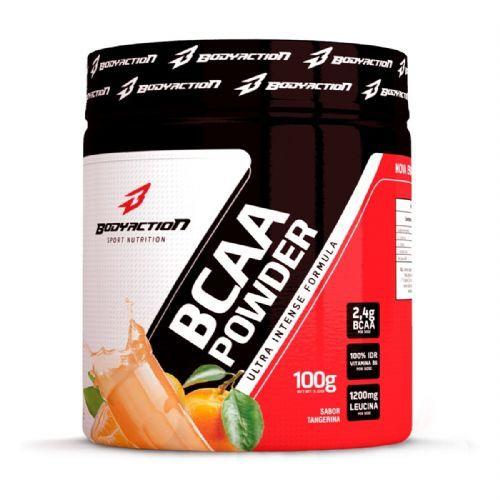 BCAA Powder - Muscle Builder - 100g Tangerina - BodyAction no Atacado