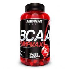 BCAA Pumpmax - 120 Cápsulas Nova Fórmula 3500mg de BCAA - Midway