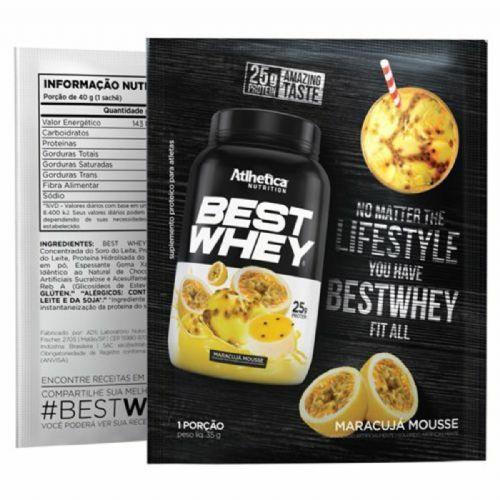 Best Whey - 1 sachê 35g Mousse de Maracujá - Atlhetica Nutrition no Atacado