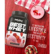 Best Whey - 1 sachê 35g Strawberry Milkshake - Atlhetica Nutrition
