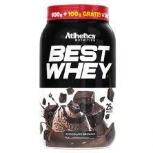 Best Whey Promocional - 900g + 100g Grátis  Brownie Chocolate - Atlhetica Nutrition