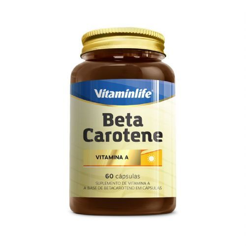 Beta Carotene - 60 Cápsulas - VitaminLife no Atacado
