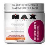 Bio Colagen - Sabor Tangerina 300g + Coqueteleira 600ml Preta - Max Titanium