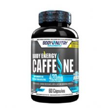 Body Energy Caffeine - 60 Cápsulas - Body Nutry