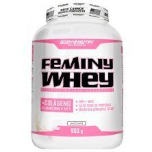 Body Feminy Whey Colágeno - 900g Chocolate - Body Nutry