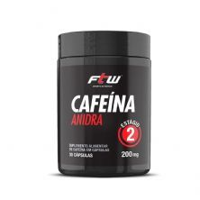 Cafeína Anidra 200mg - 30 Cápsulas - FTW