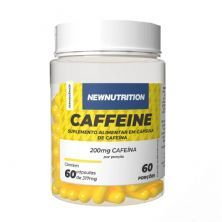 Caffeine 200mg - 60 Cápsulas - NewNutrition