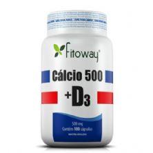 Calcio 500 + D3 Fitoway - 180 Cápsulas - Fitoway