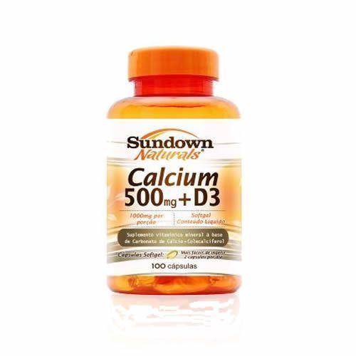 Calcium 500 Mg+D3 - 100 Softgels - Sundown