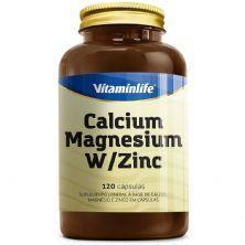 Calcium Magnesium W/Zinc - 120 Cápsulas - Vitaminlife