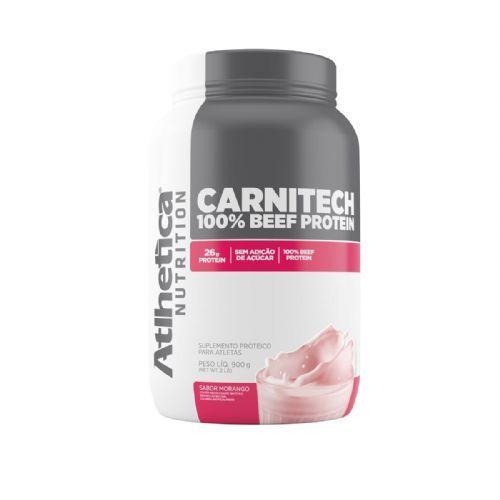 Carnitech 100% Beef Protein - 907g Morango - Atlhetica Nutrition no Atacado