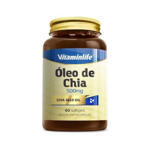 Òleo de Chia 500mg - 60 Softgels - Vitaminlife no Atacado