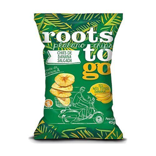 Chips De Banana Salgada Roots To Go 45g