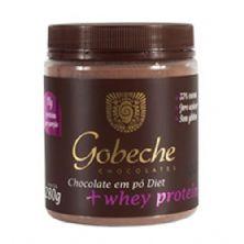 Chocolate em Pó Diet + Whey Protein - 280g - Gobeche