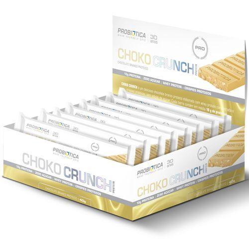 Choko Crunch - Chocolate Branco  Proteico 12 Unidades - Probiótica